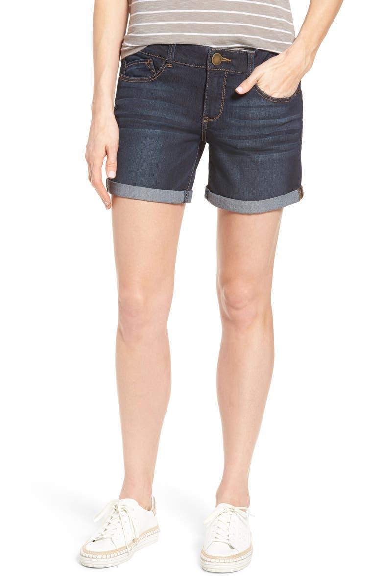 WIT & WISDOM Ab-Solution Cuffed Denim Shorts, Main, color, 402
