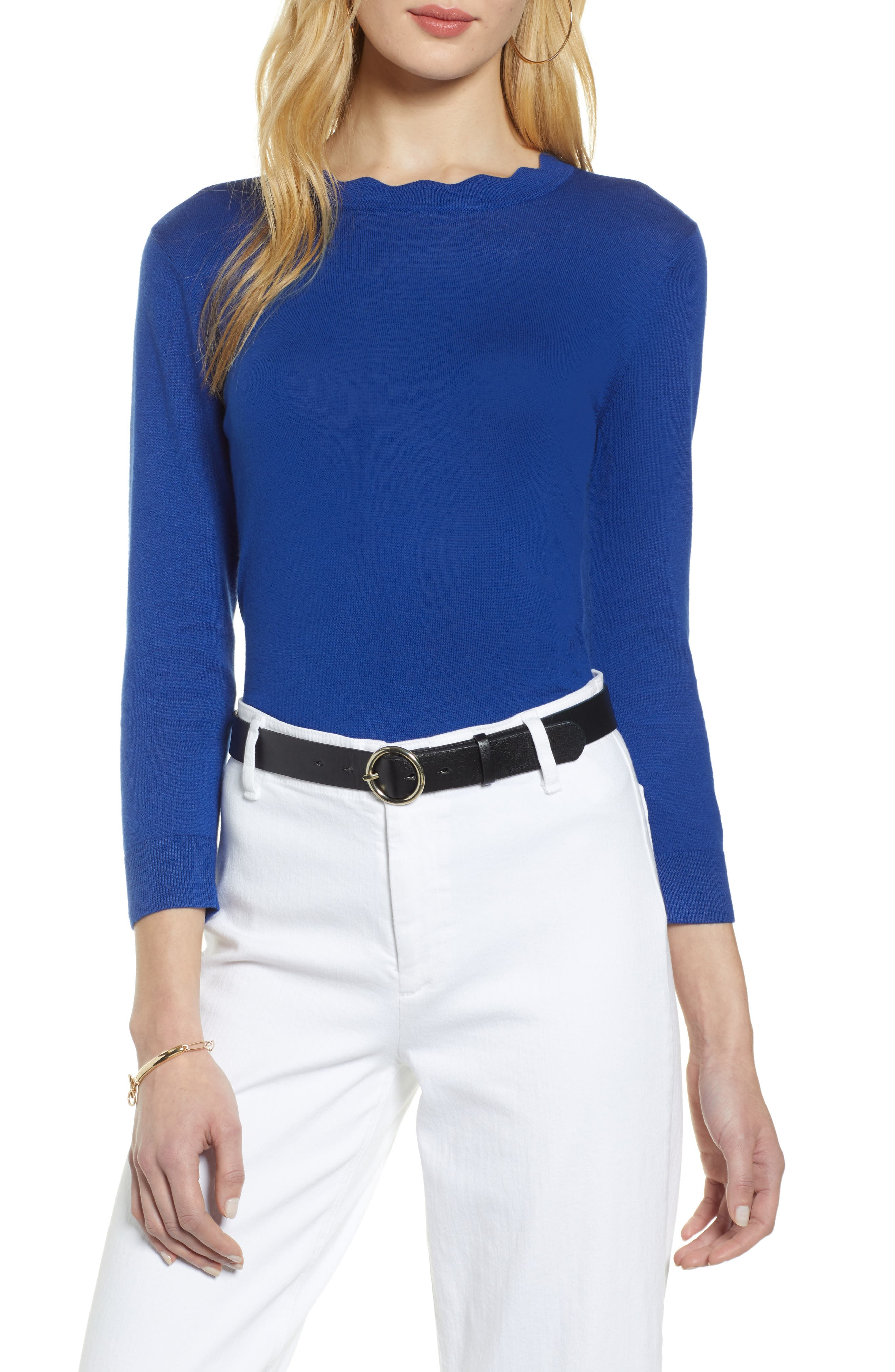 ,                             Scallop Neck Sweater,                             Main thumbnail 19, color,                             401