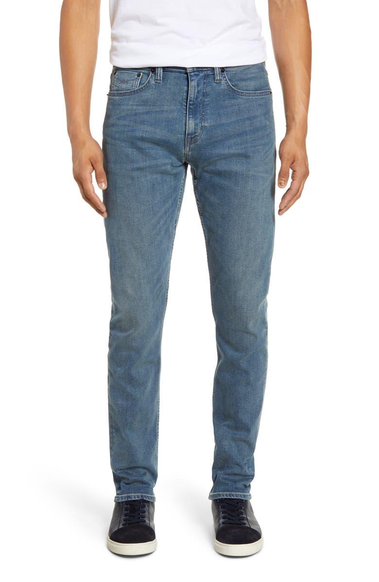 REVTOWN Slim Fit Taper Jeans, Main, color, FADED INDIGO