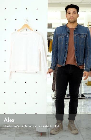 Long Sleeve Crewneck Linen Top, sales video thumbnail