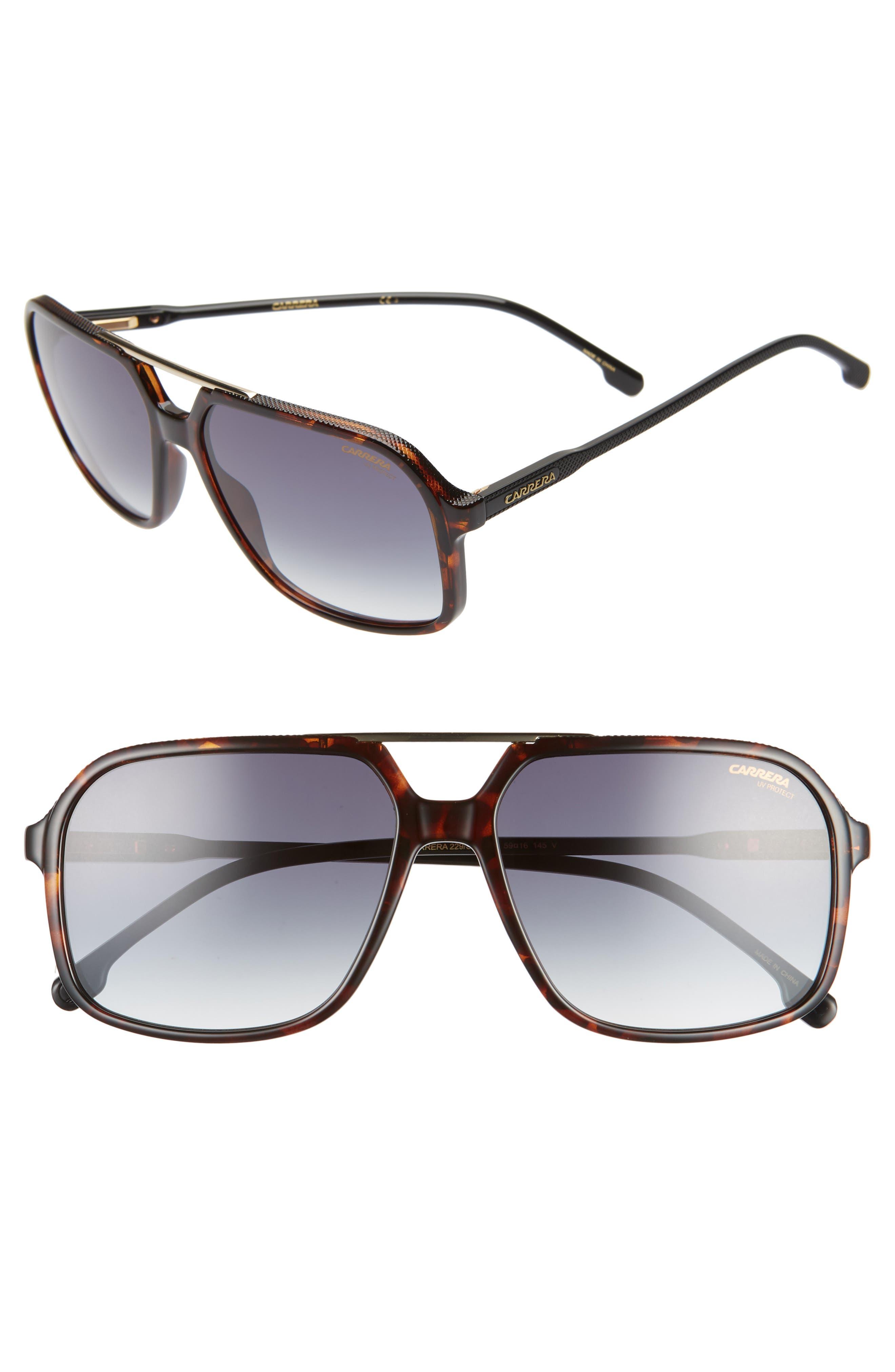 59mm Polarized Aviator Sunglasses