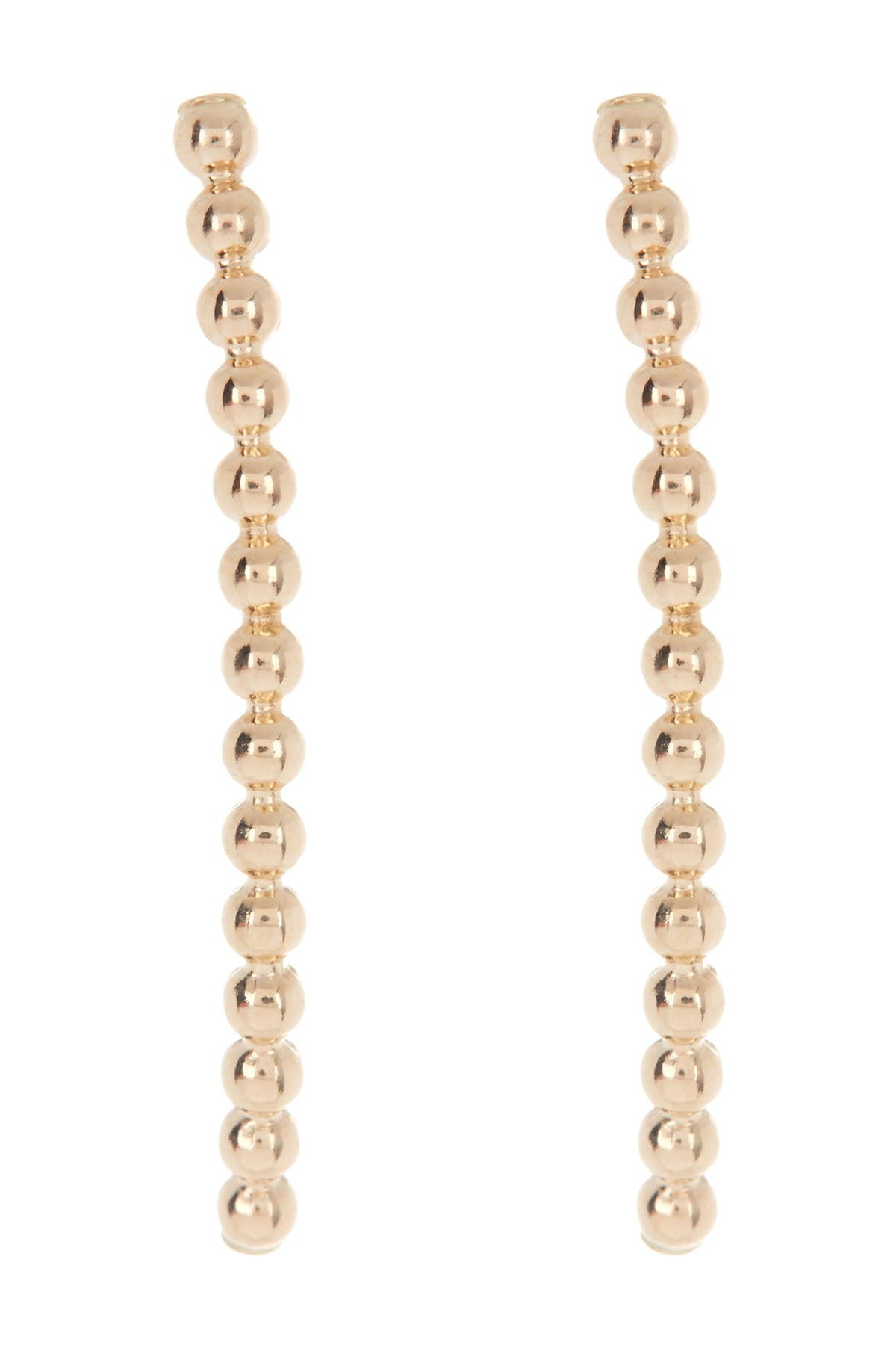 Image of Candela 14K Yellow Gold Curved Beaded Crawler Earrings