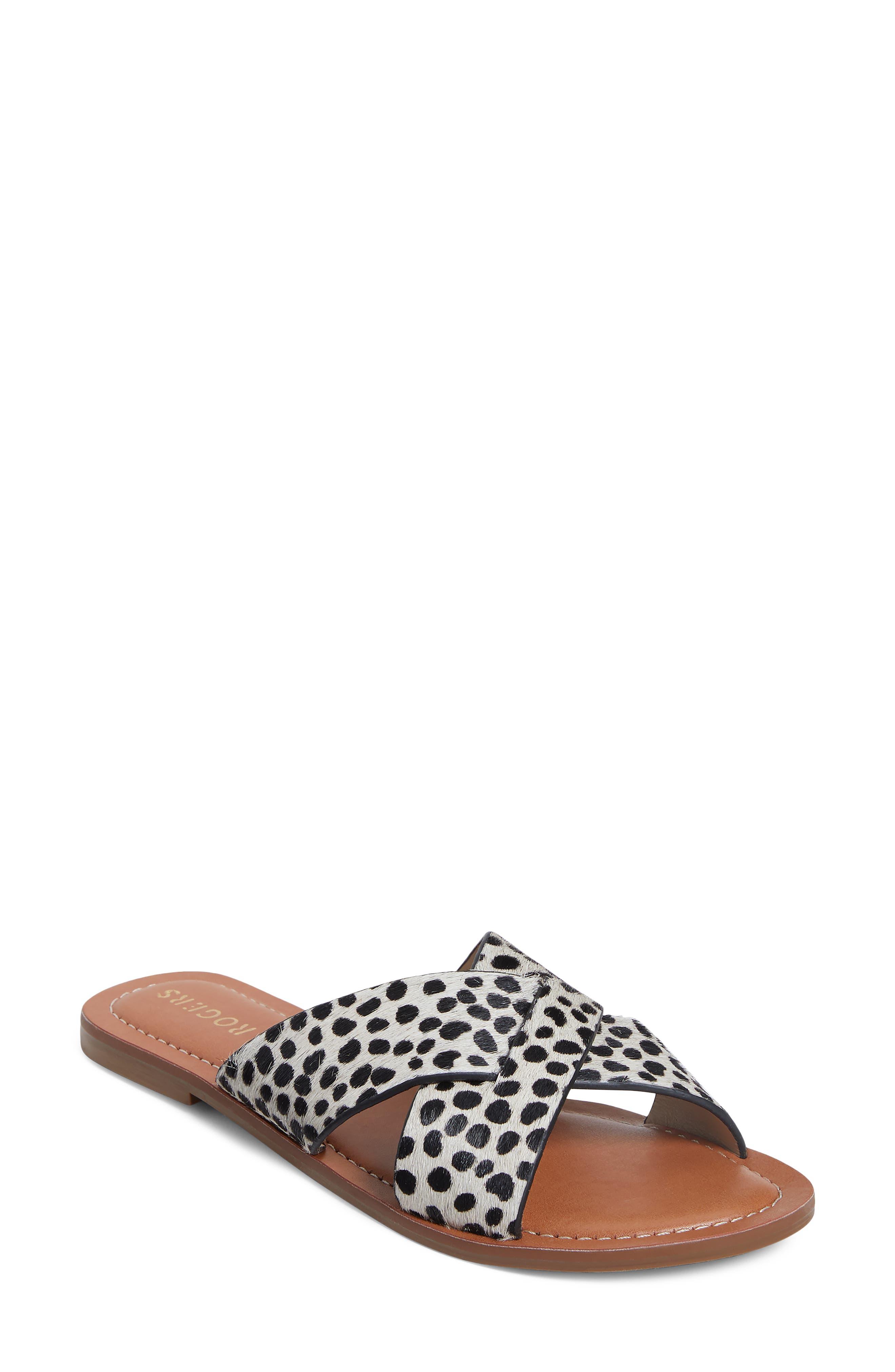 Genuine Calf Hair Slide Sandal