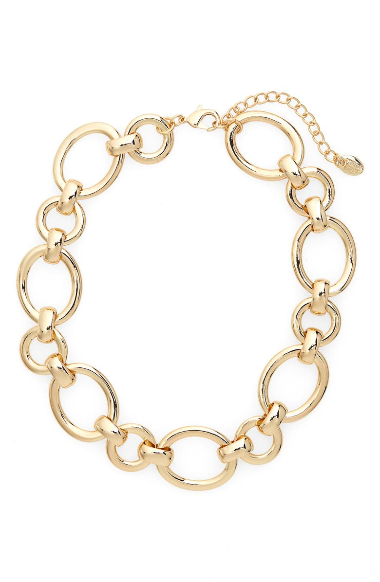 Stella Ruby Chain Link Collar Necklace