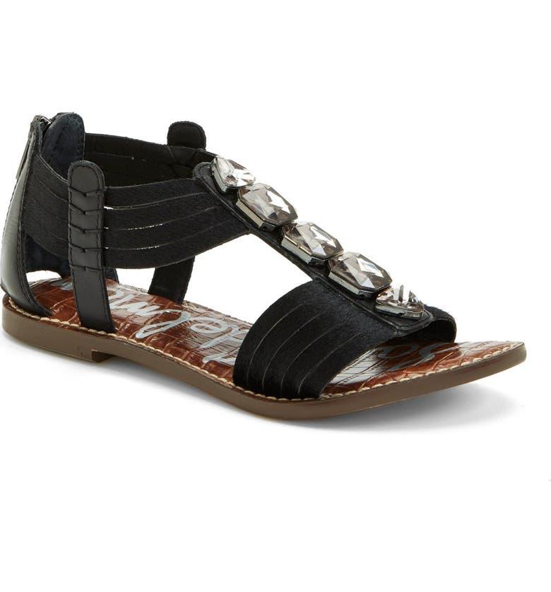 SAM EDELMAN 'Galina' Crystal Embellished Sandal, Main, color, 001