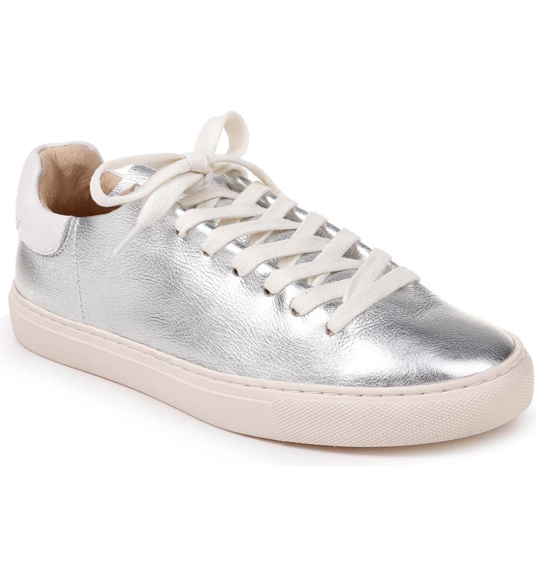 SPLENDID Hickort Sneaker, Main, color, SILVER/ WHITE LEATHER