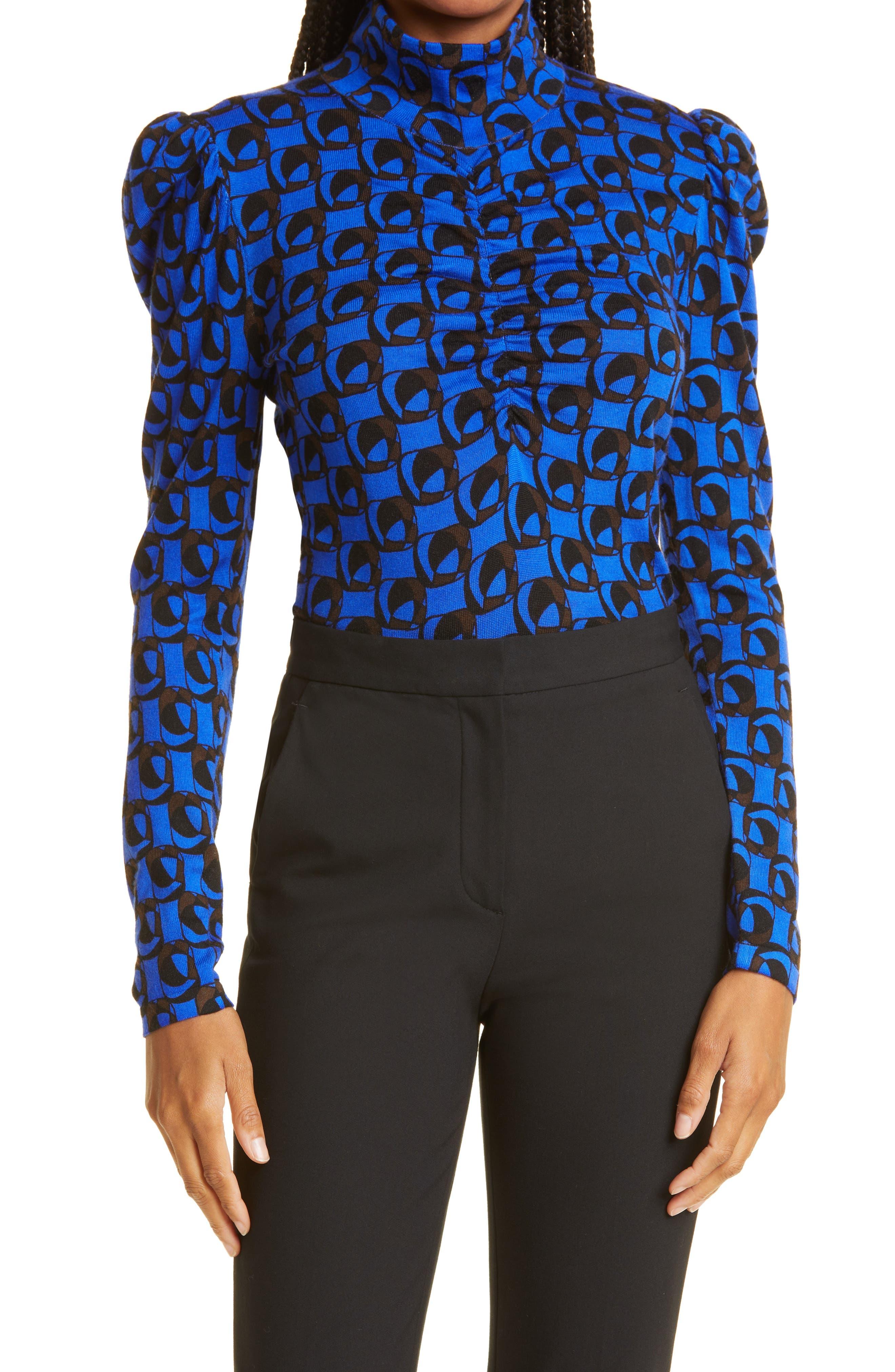 Tanner Geo Print Wool Sweater
