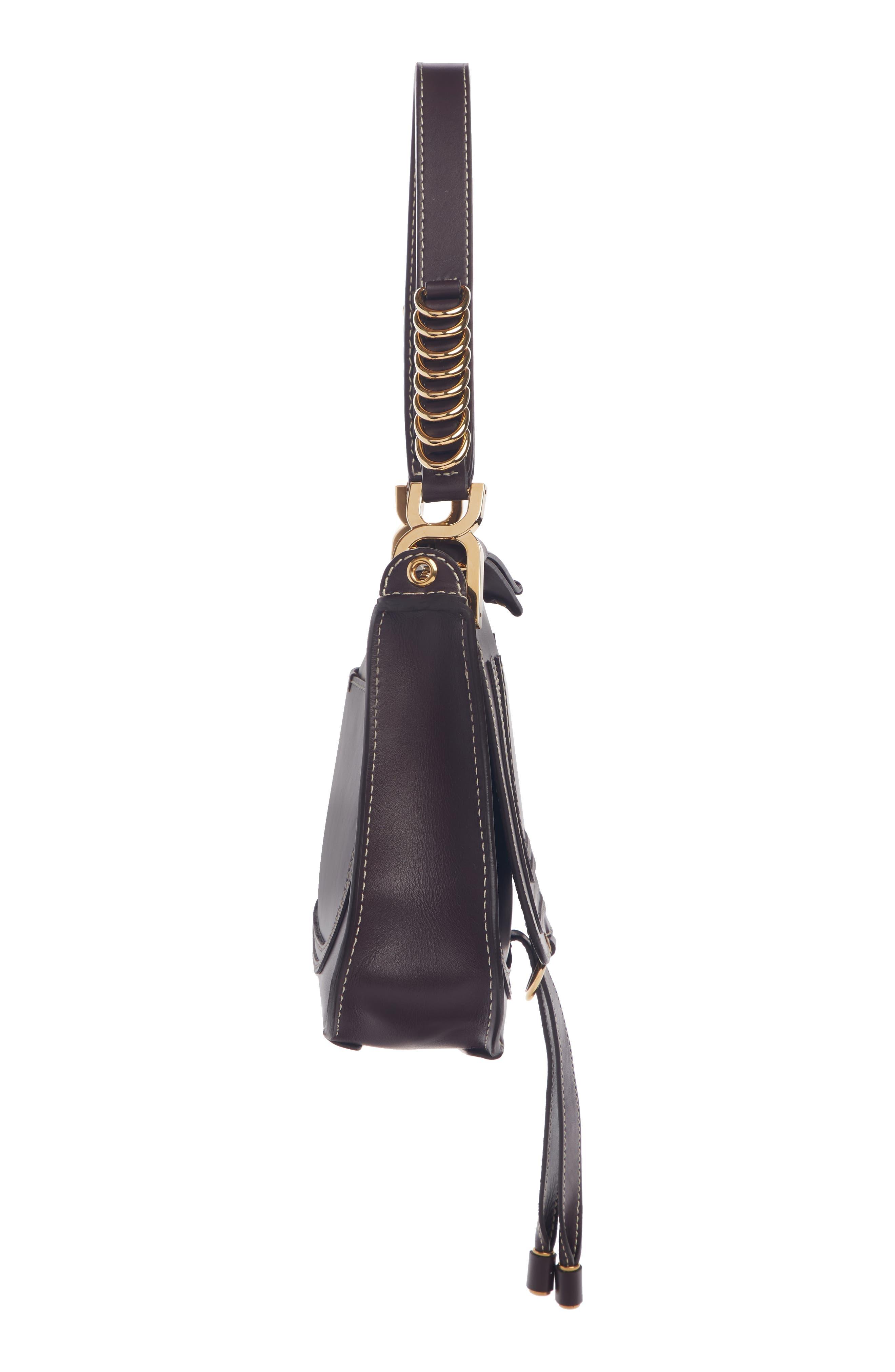 ,                             Marcie Leather Top Handle Bag,                             Alternate thumbnail 4, color,                             BLACK RAISIN