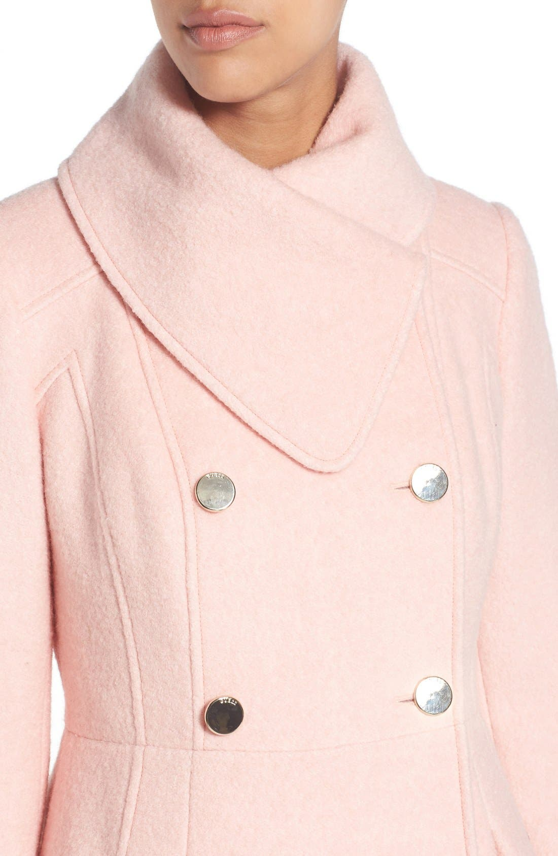,                             Envelope Collar Double Breasted Coat,                             Alternate thumbnail 27, color,                             666