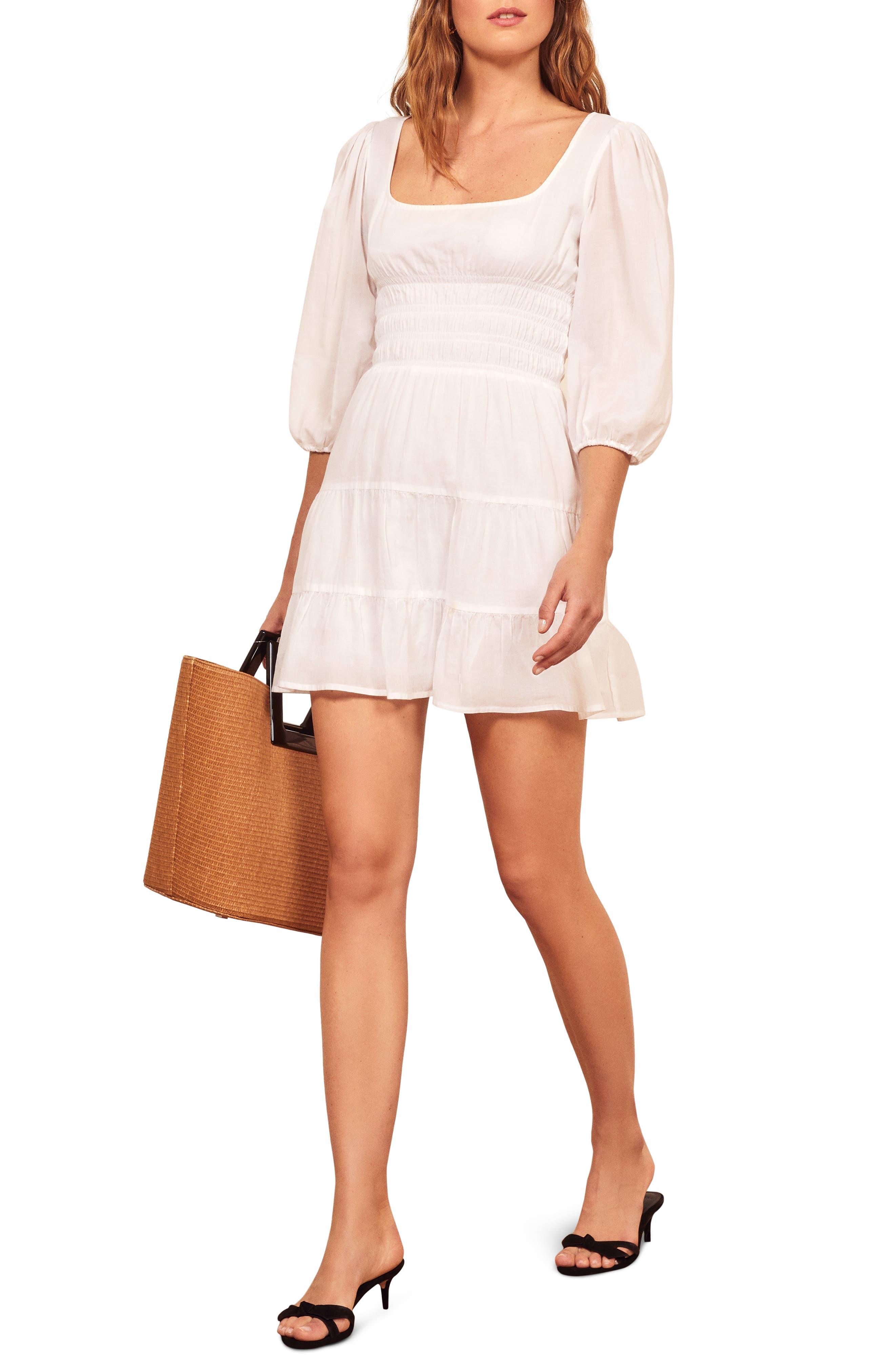 Reformation Verona Minidress, White