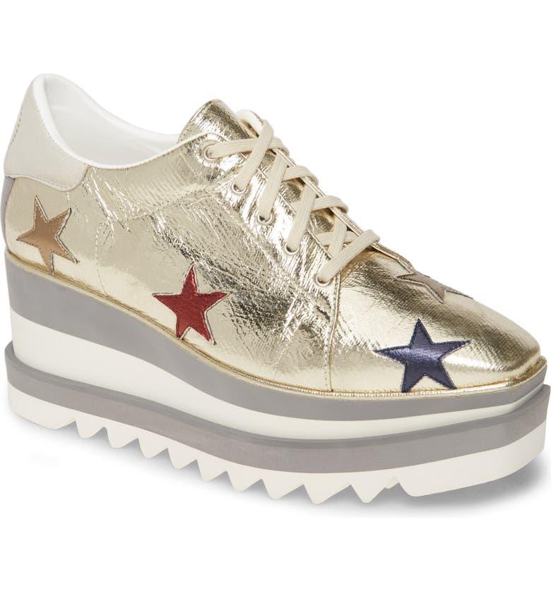 STELLA MCCARTNEY Elyse Platform Sneaker, Main, color, GOLD