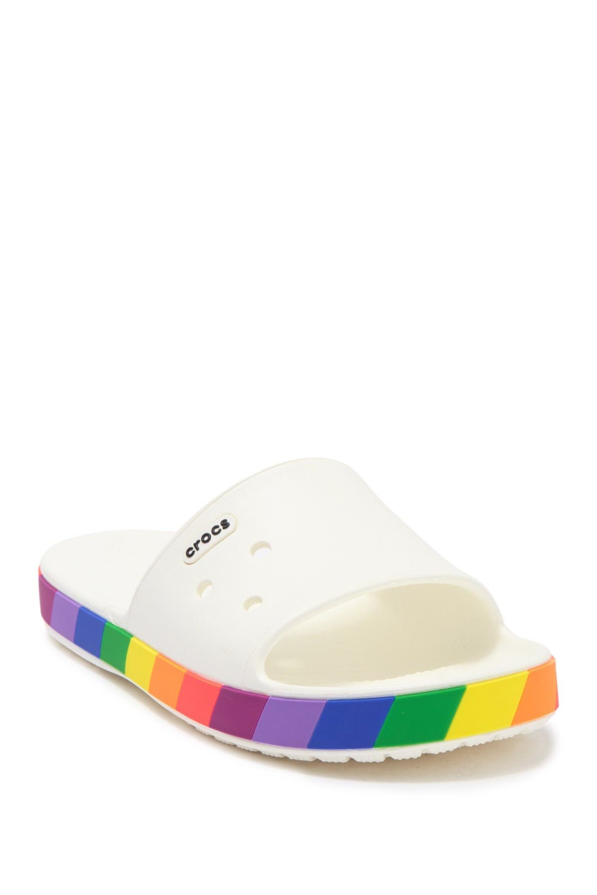 Image of Crocs Crocband III Rainbow Block Slide Sandal