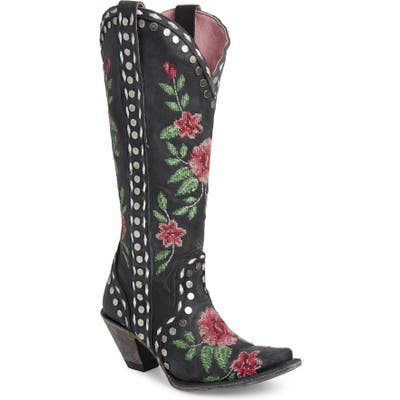Lane Boots X Junk Gypsy Wild Stitch Embroidered Boot- Black