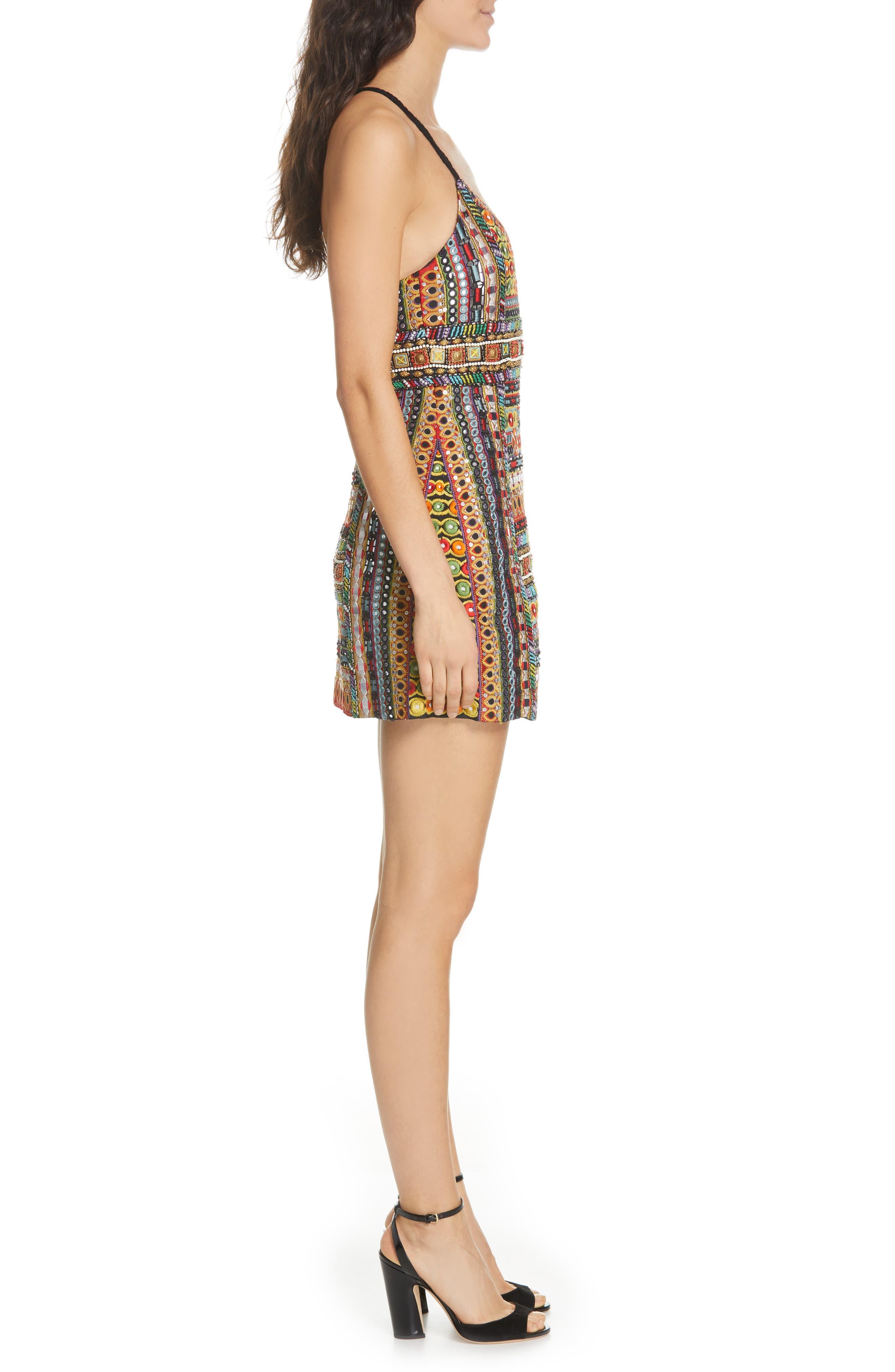 ,                             Tayla Embroidered Minidress,                             Alternate thumbnail 3, color,                             MULTI