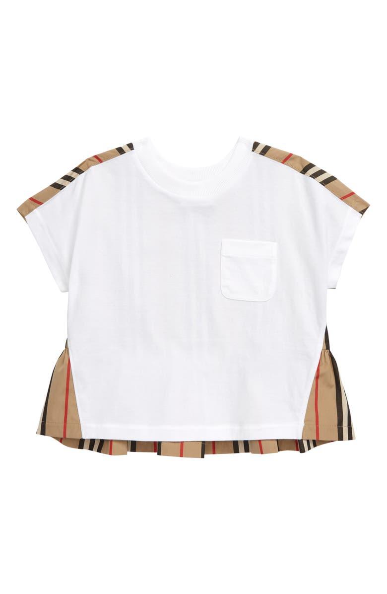 BURBERRY Delilah T-Shirt, Main, color, WHITE