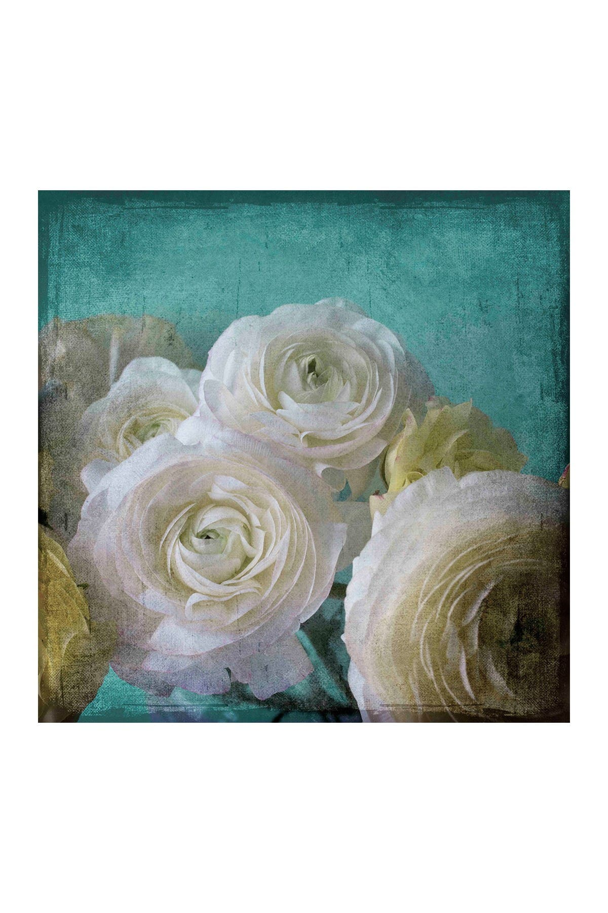 """Image of Marmont Hill Inc. Yellow Ranunculus B Painting Print on Wrapped Canvas - 48"""" x 48"""""""