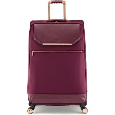 Ted Baker London 33-Inch Spinner Trolley Packing Case - Burgundy