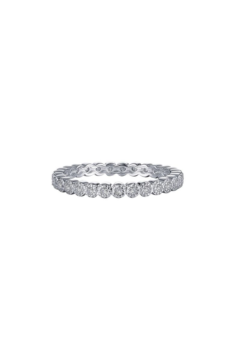 LAFONN Simulated Diamond Eternity Band, Main, color, SILVER/CLEAR
