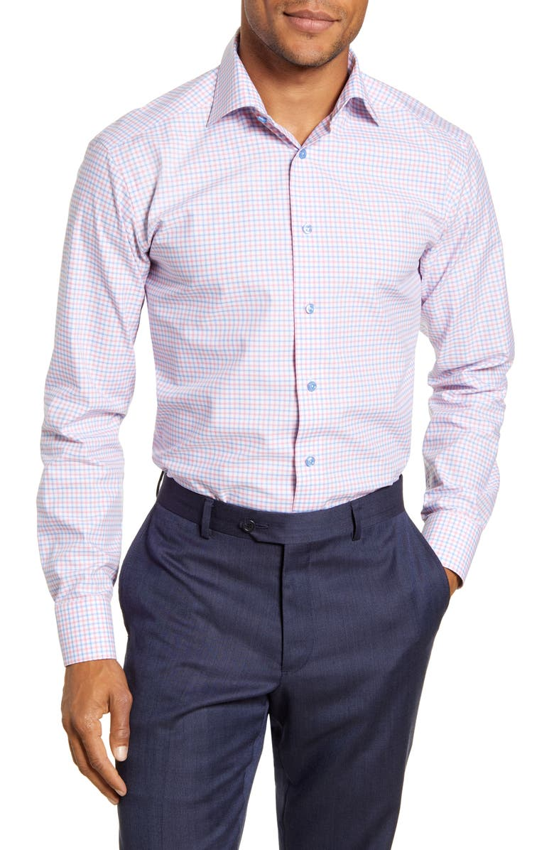 ETON Slim Fit Check Print Dress Shirt, Main, color, 651