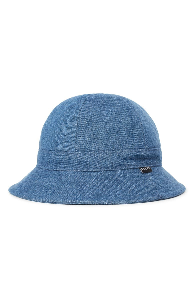 BRIXTON Banks II Denim Bucket Hat, Main, color, DARK DENIM