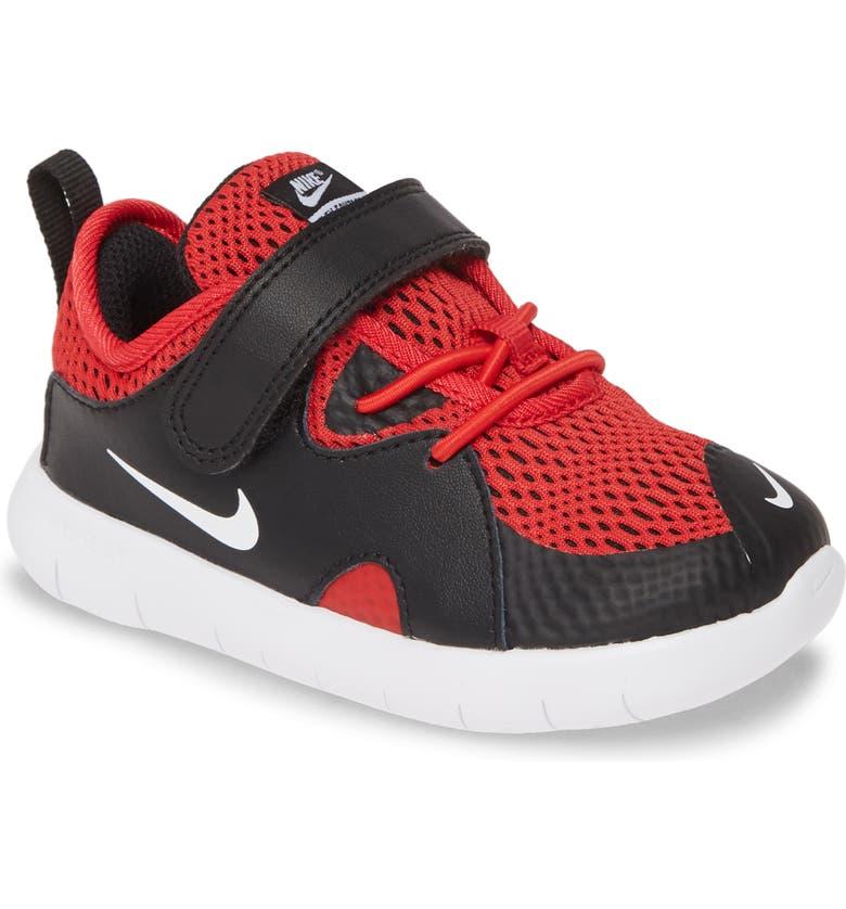 NIKE Flex Contact 3 TDV Running Shoe, Main, color, UNIVERSITY RED/ WHITE-BLACK