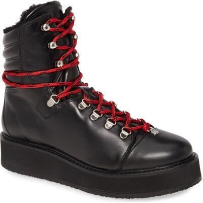 Allsaints Fay Platform Hiker Boot, Black