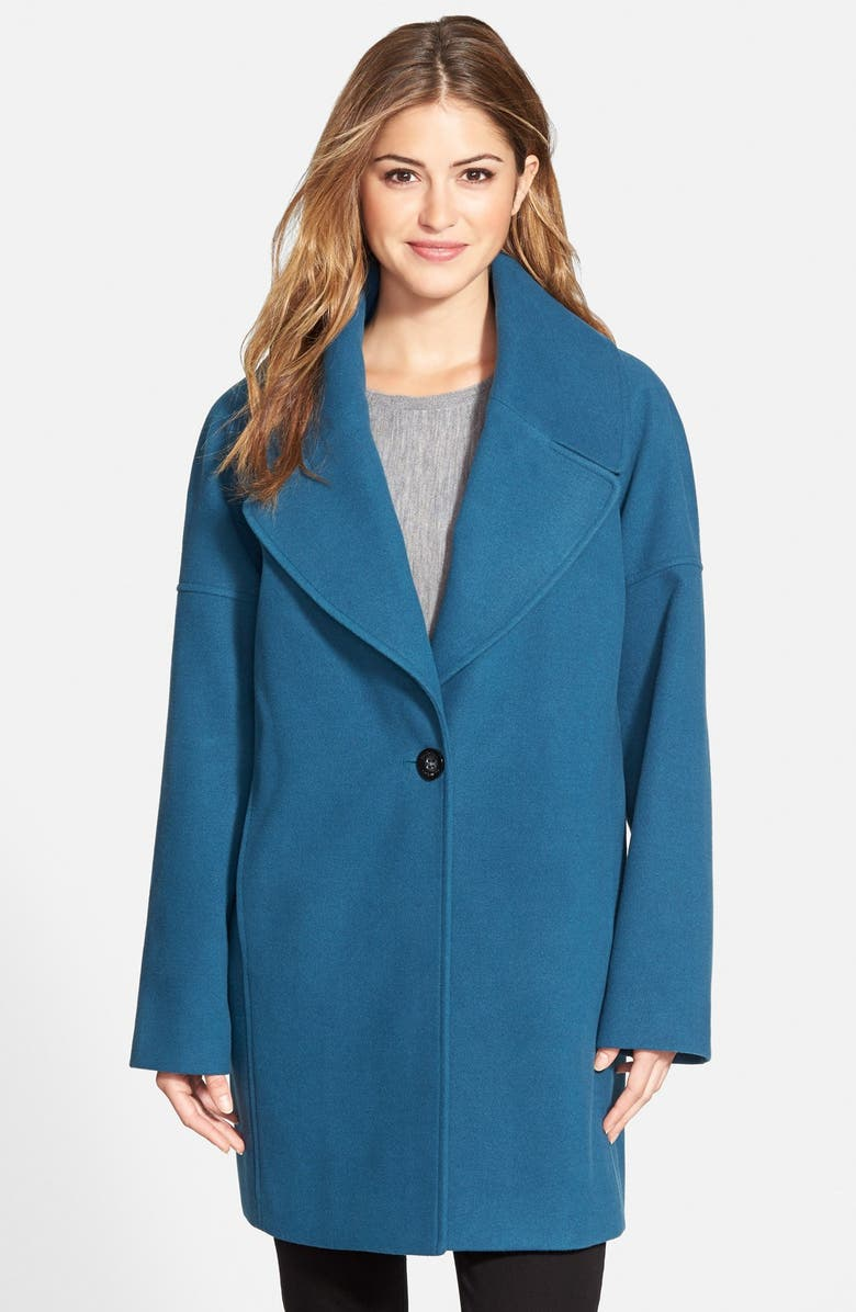 CALVIN KLEIN Oversize Collar Boyfriend Coat, Main, color, 400