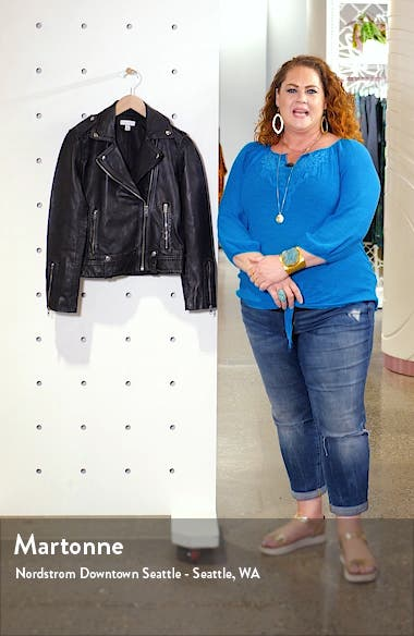 Mona Leather Biker Jacket, sales video thumbnail