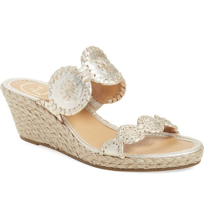fc81811005 Jack Rogers 'Shelby' Whipstitched Wedge Sandal (Women)   Nordstrom