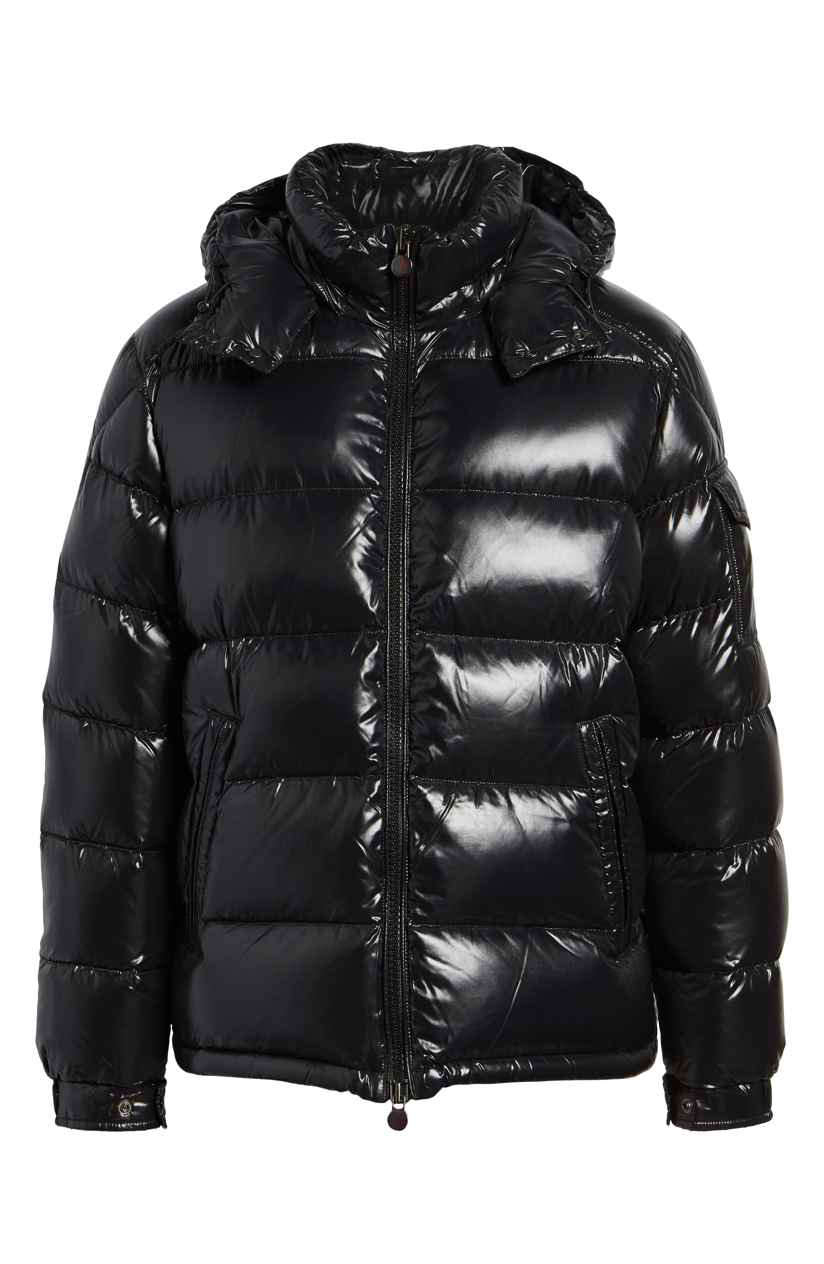 ,                             Maya Laque Quilted Down Jacket,                             Alternate thumbnail 6, color,                             BLACK