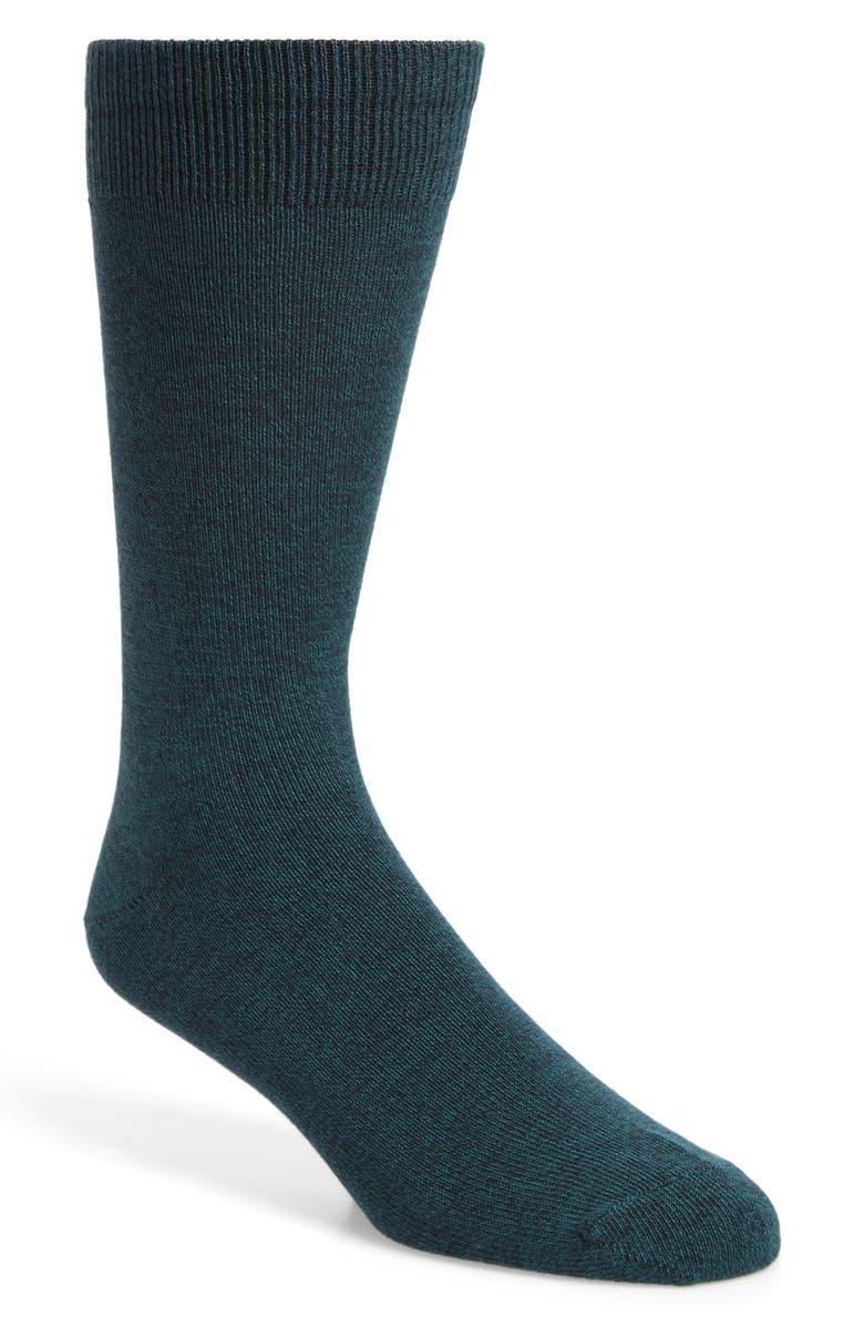 NORDSTROM MEN'S SHOP Ultrasoft Solid Socks, Main, color, GREEN BISTRO