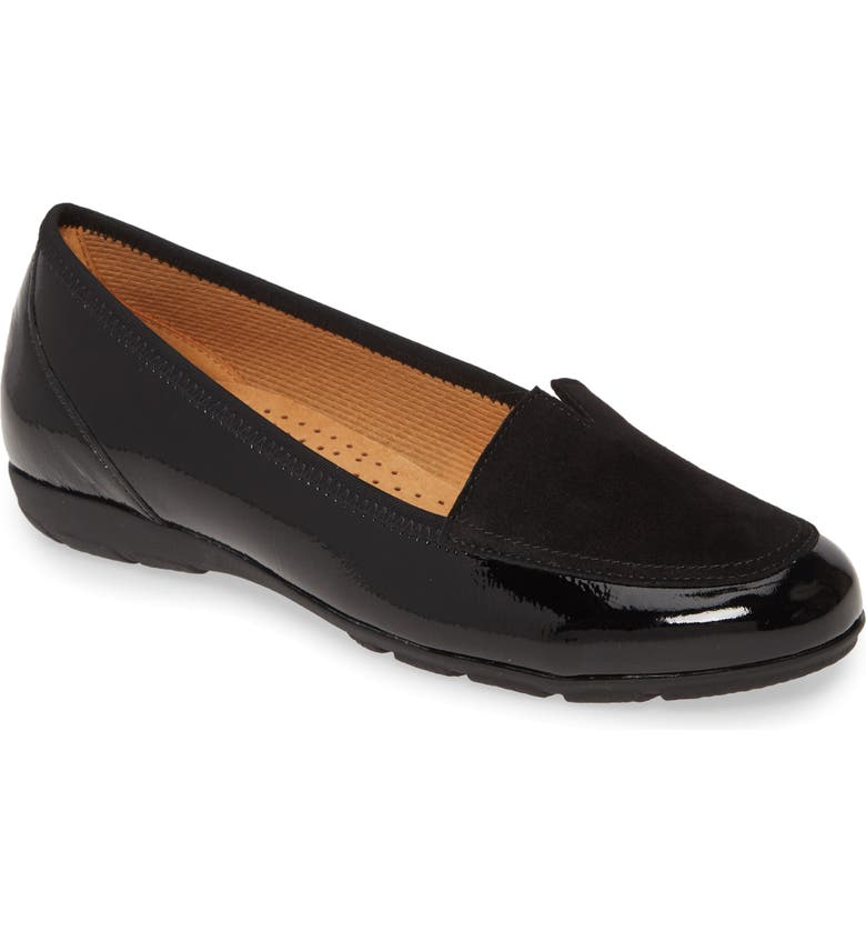 GABOR Mixed Media Loafer, Main, color, 001