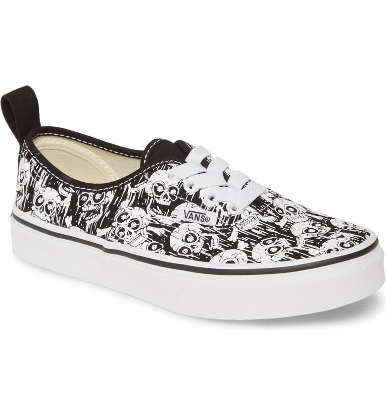 VANS UY Authentic Print Sneaker, Main, color, BLACK/ TRUE WHITE