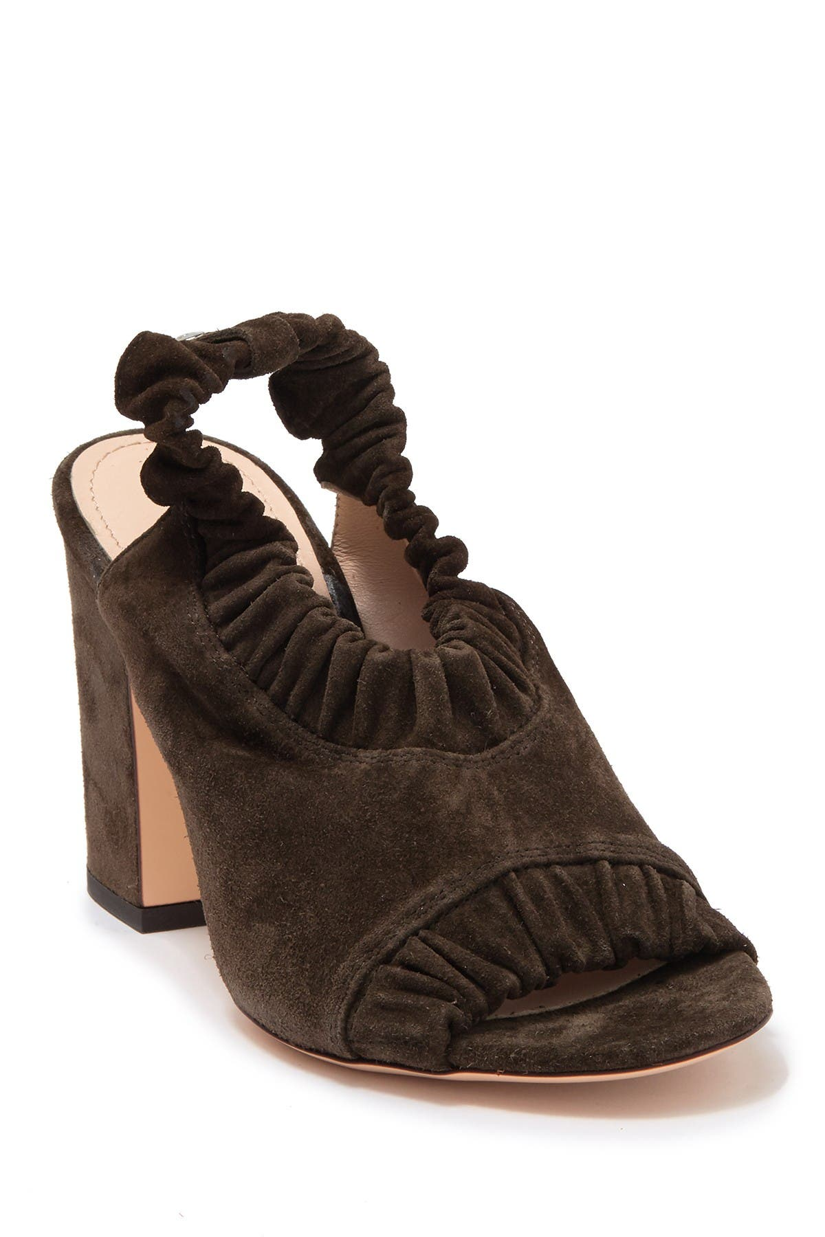 Image of AGL Ruffled Suede Slingback Pump