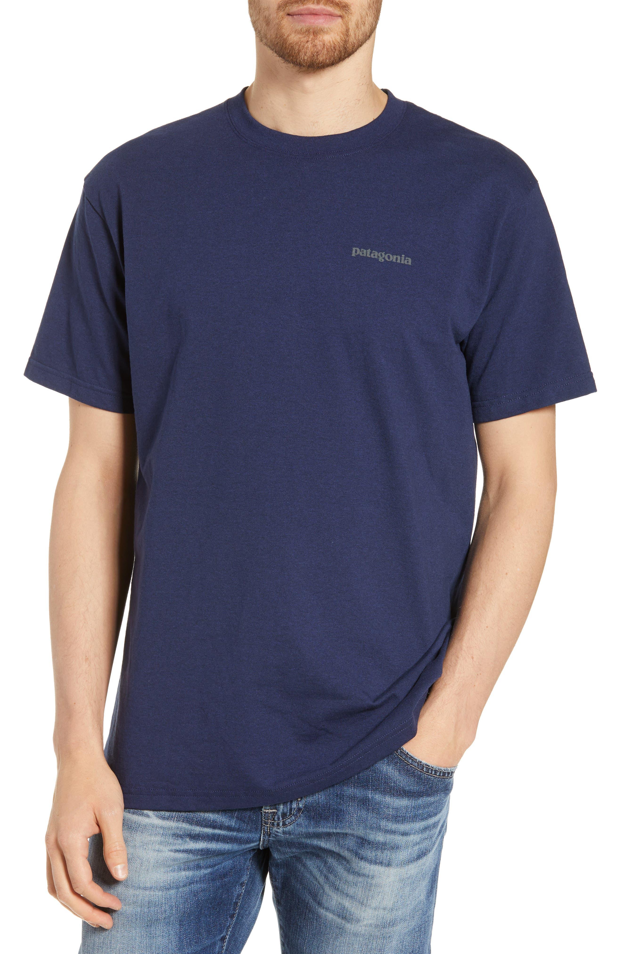Patagonia Fitz Roy Smallmouth Responsibili-Tee Regular Fit T-Shirt, Blue