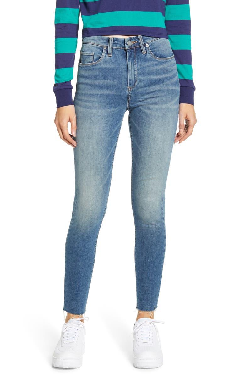 BLANKNYC Fray Hem Jeans, Main, color, CASUAL FRIDAY