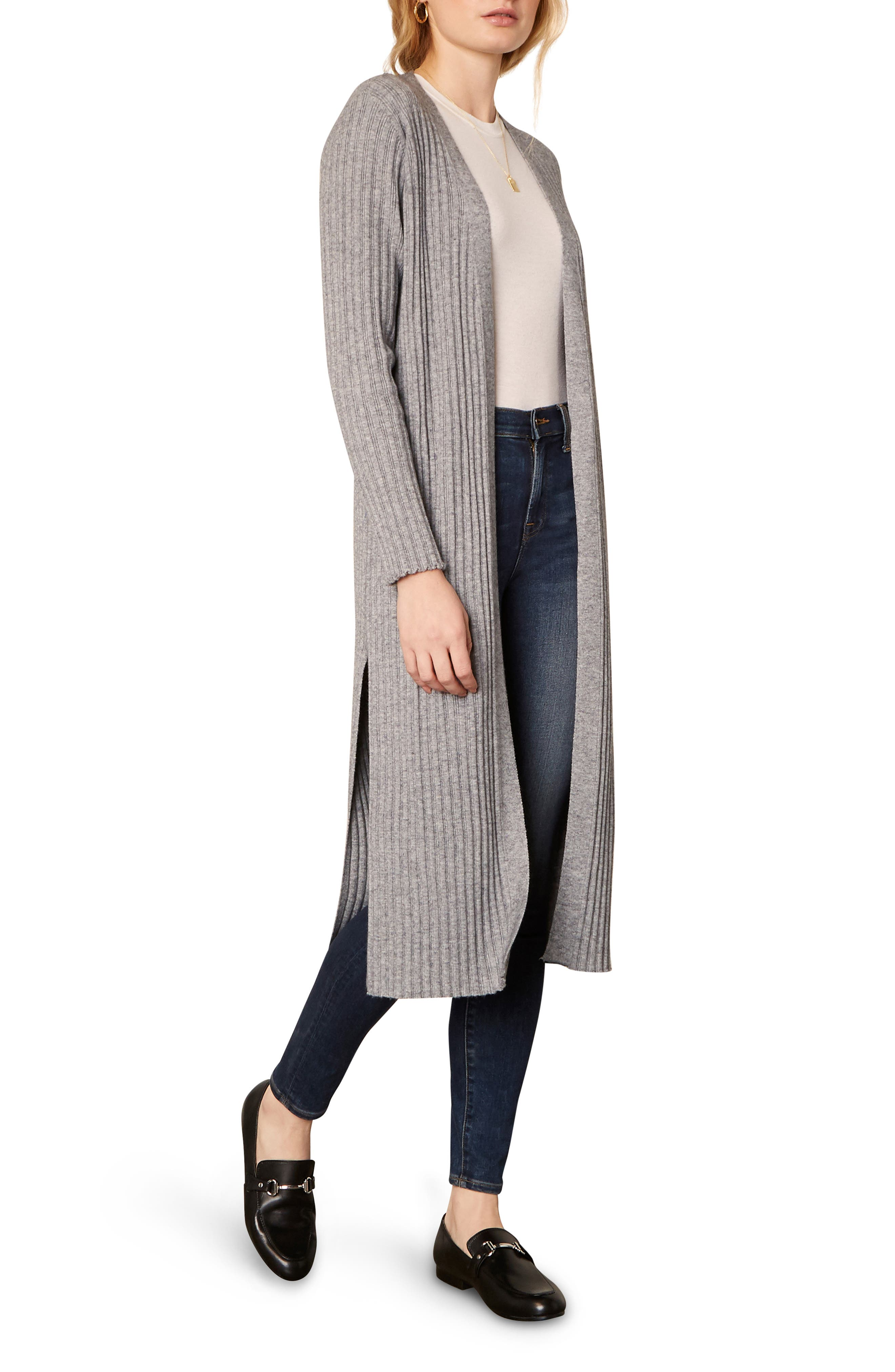 Image of: Cupcakes And Cashmere Paloma Ribbed Open Front Duster Nordstrom