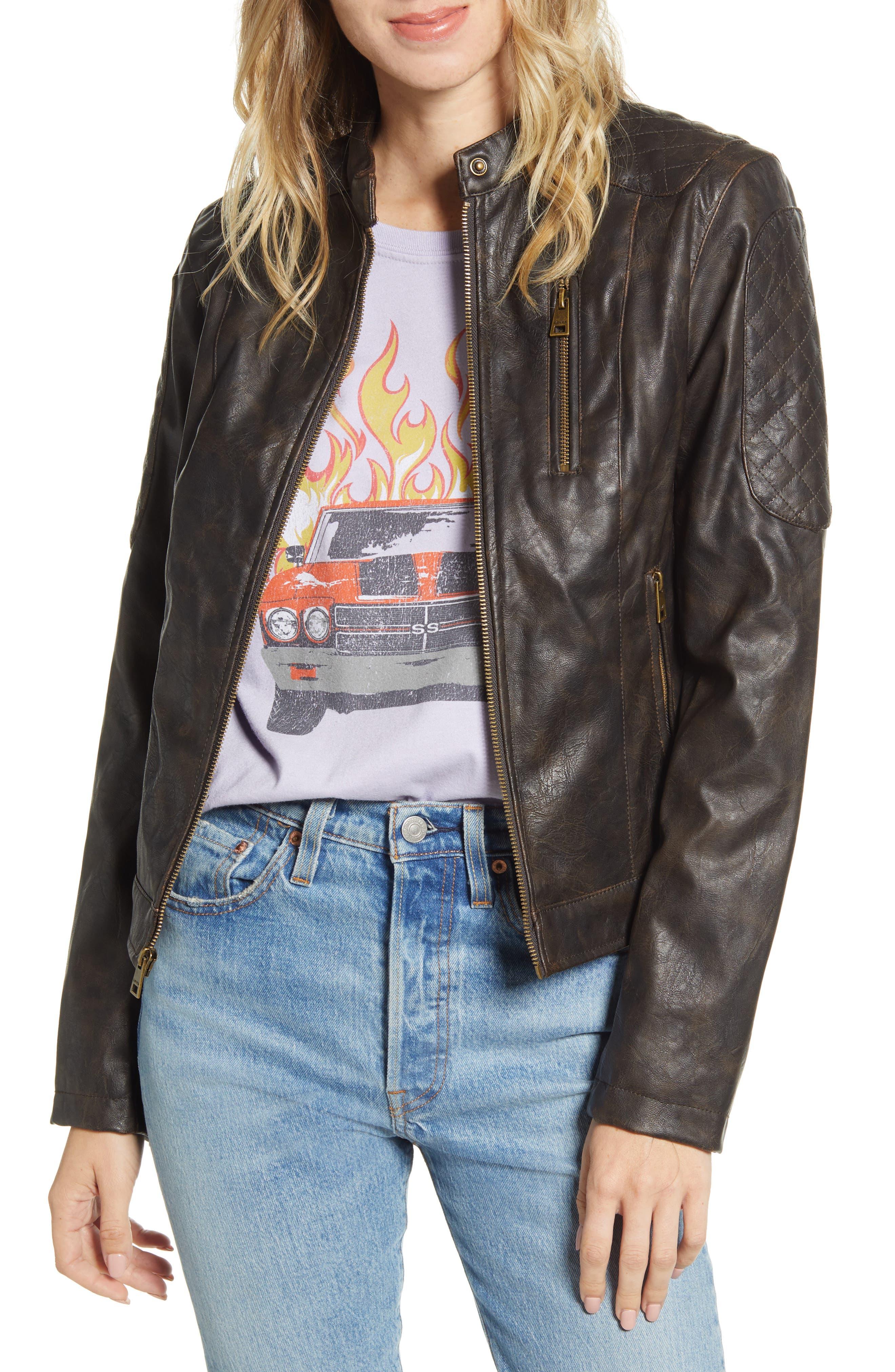 Levi's® Faux Leather Racer Jacket