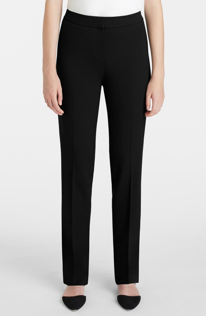 LAFAYETTE 148 NEW YORK Barrow Stretch Wool Pants, Main, color, 001