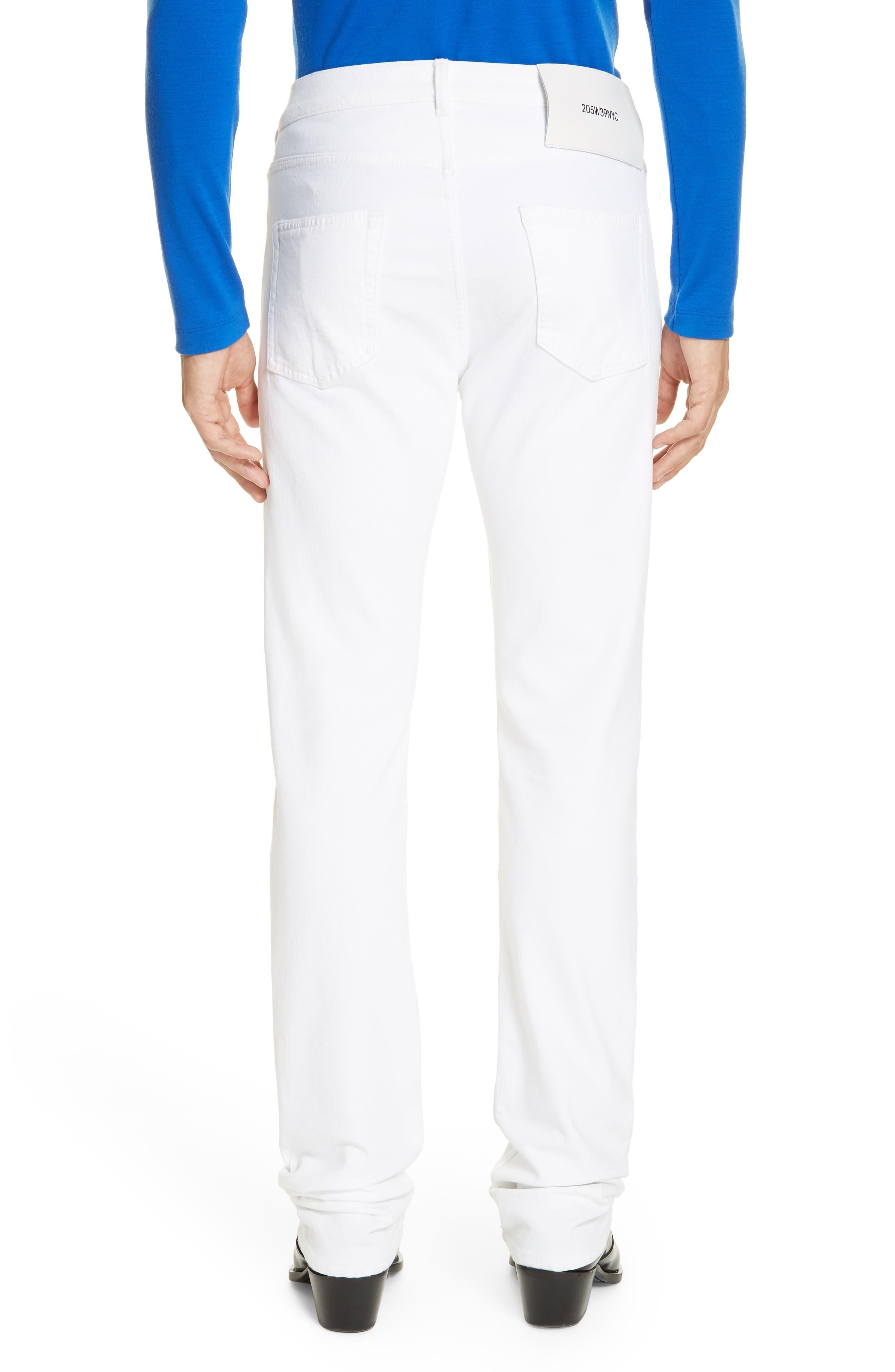 ,                             White Denim Pants,                             Alternate thumbnail 2, color,                             OPTIC WHITE