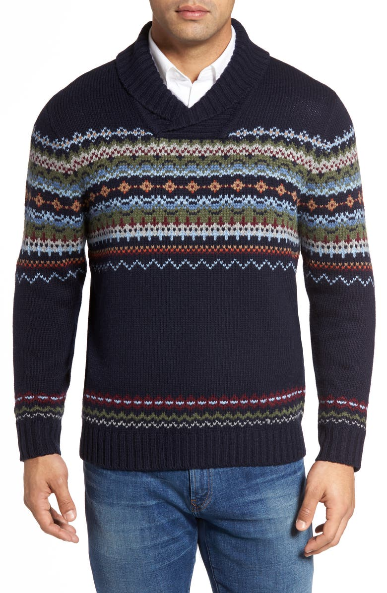 TOMMY BAHAMA Fair Isle Sweater, Main, color, 400