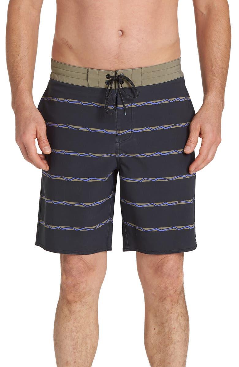 BILLABONG Sundays Stripe Board Shorts, Main, color, STEALTH