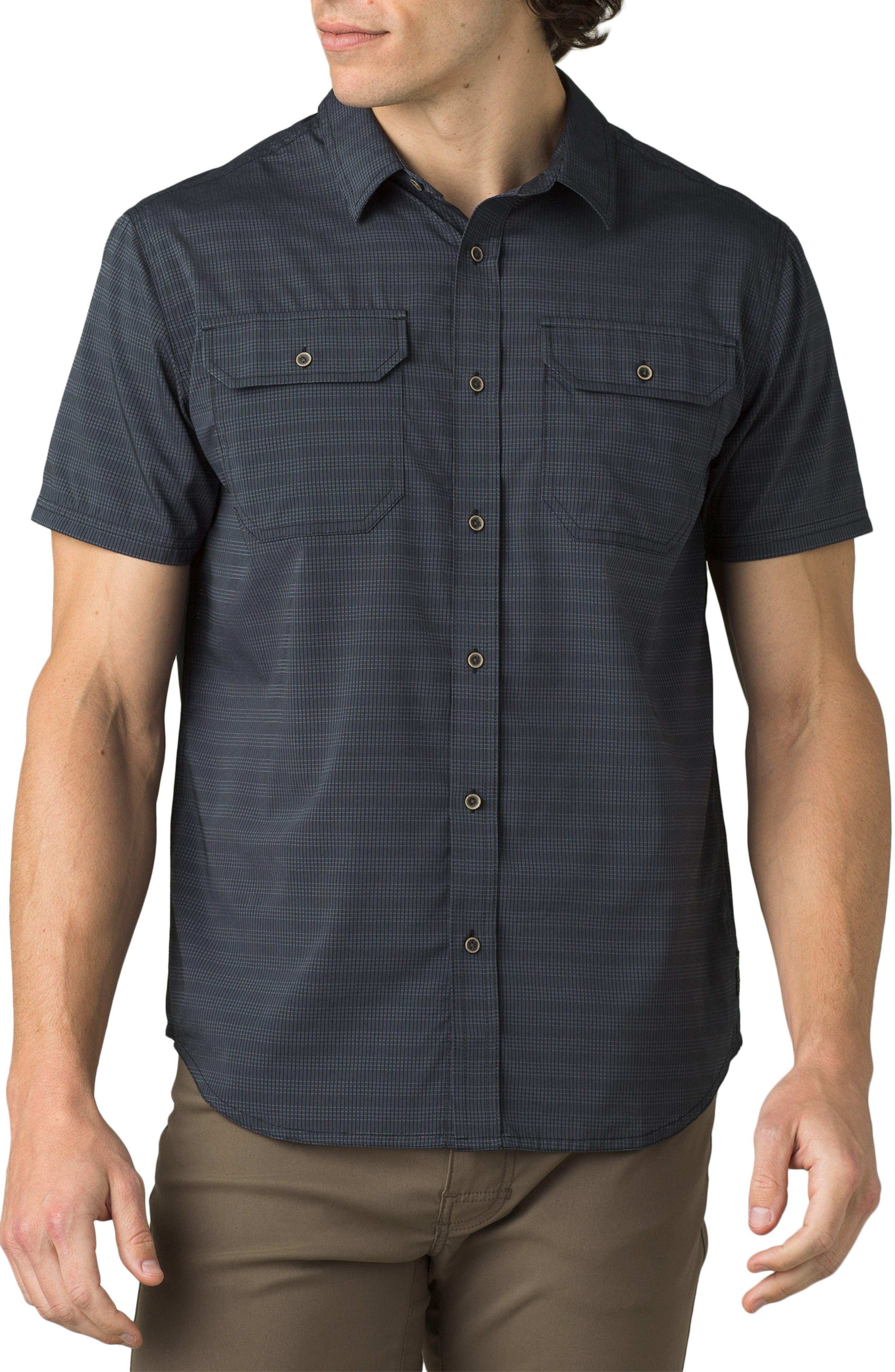 Men's Big & Tall Prana Men's Cayman Short Sleeve Button-Up Shirt