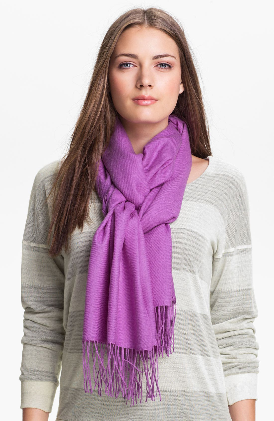 ,                             Tissue Weight Wool & Cashmere Wrap,                             Main thumbnail 159, color,                             555