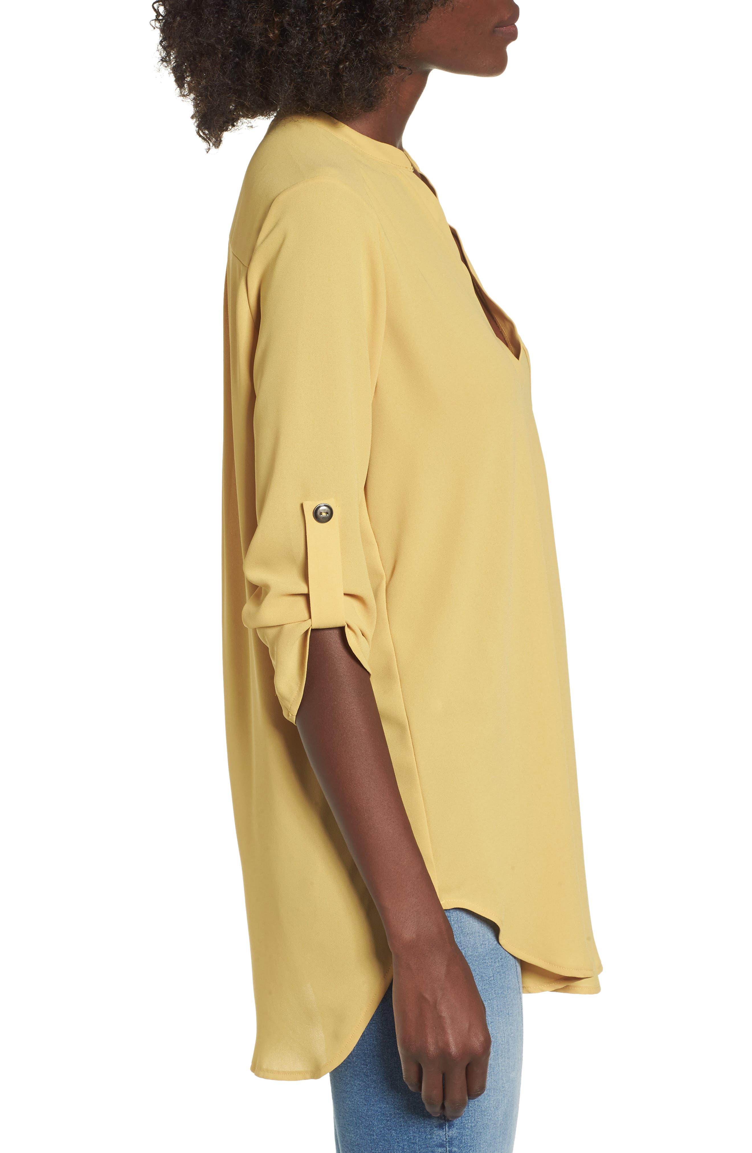 ,                             Perfect Roll Tab Sleeve Tunic,                             Alternate thumbnail 161, color,                             741