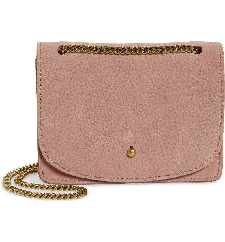 MADEWELL The Chain Leather Crossbody Bag, Main, color, FRESH LAVENDAR
