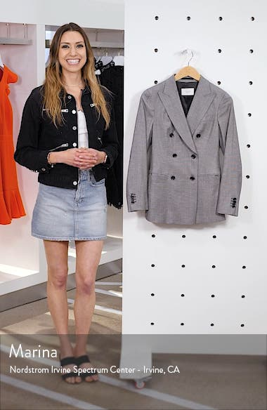 Cameron Double Breasted Wool Blend Blazer, sales video thumbnail