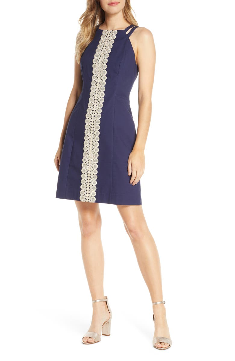 LILLY PULITZER<SUP>®</SUP> Pearl Sheath Dress, Main, color, TRUE NAVY