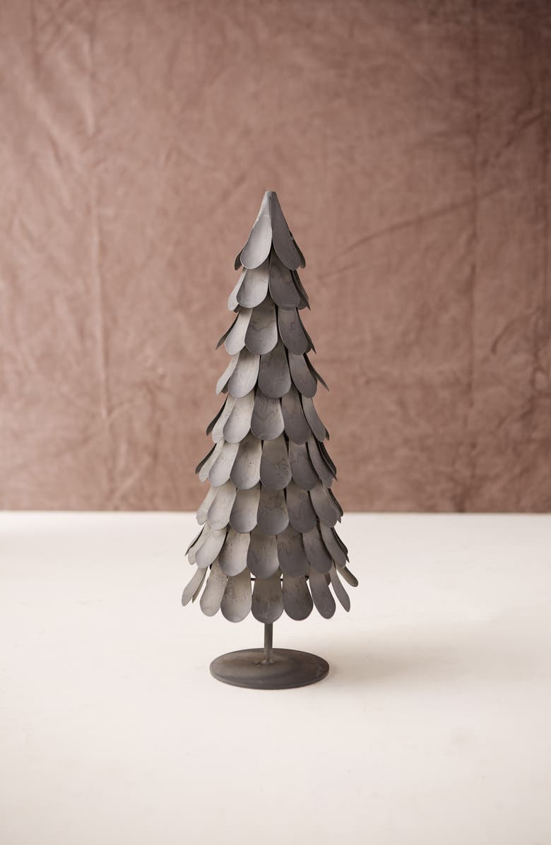 TERRAIN Metal Fir Tree, Main, color, GREY