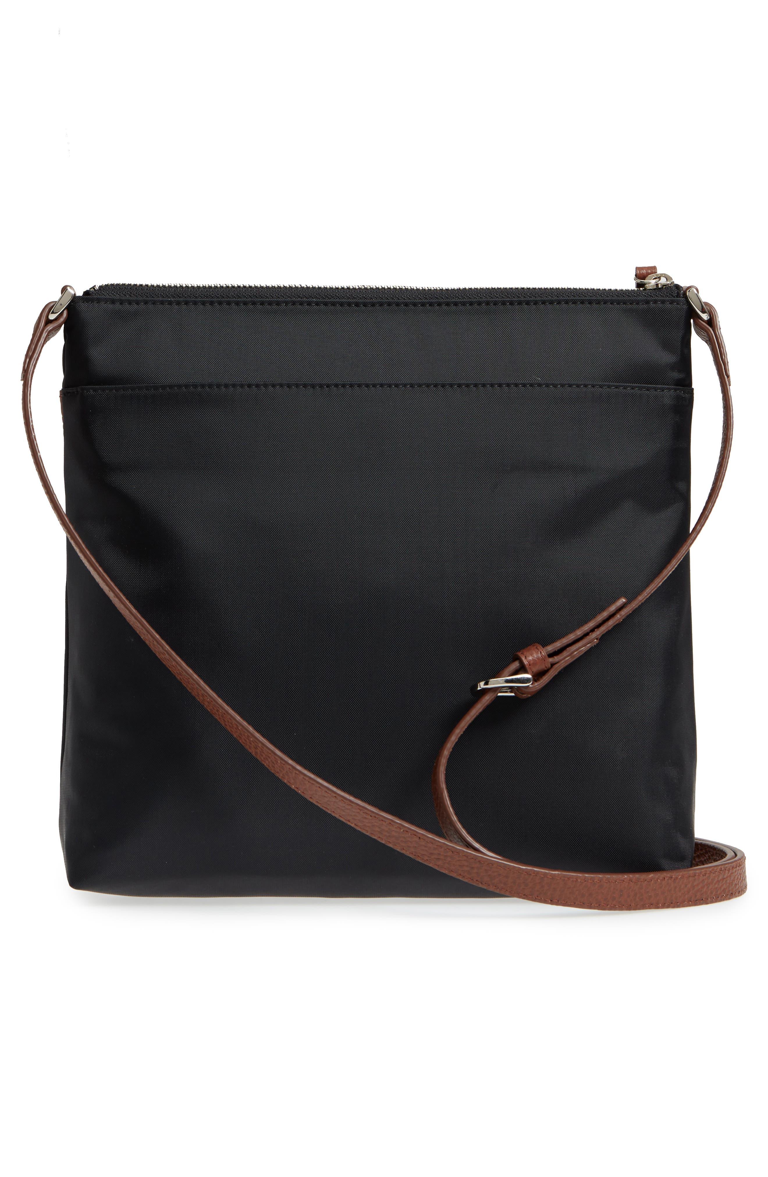 ,                             Kaison Nylon Crossbody Bag,                             Alternate thumbnail 4, color,                             BLACK/BROWN